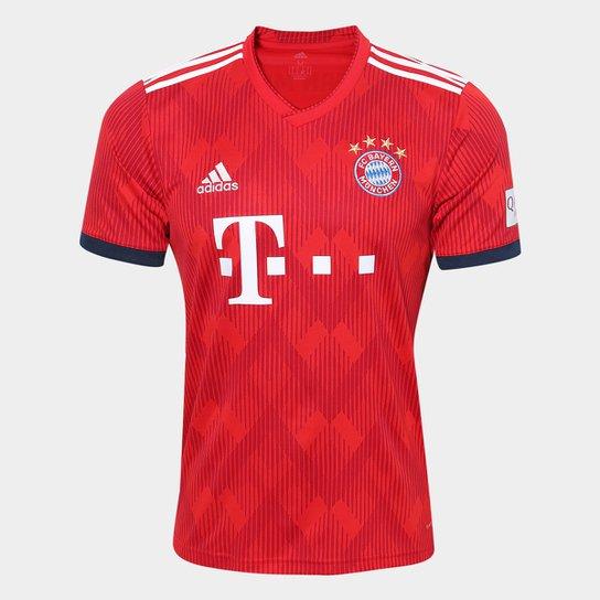 Camisa Bayern de Munique Home 2018 s n° - Torcedor Adidas Masculina -  Vermelho 7306ce31474