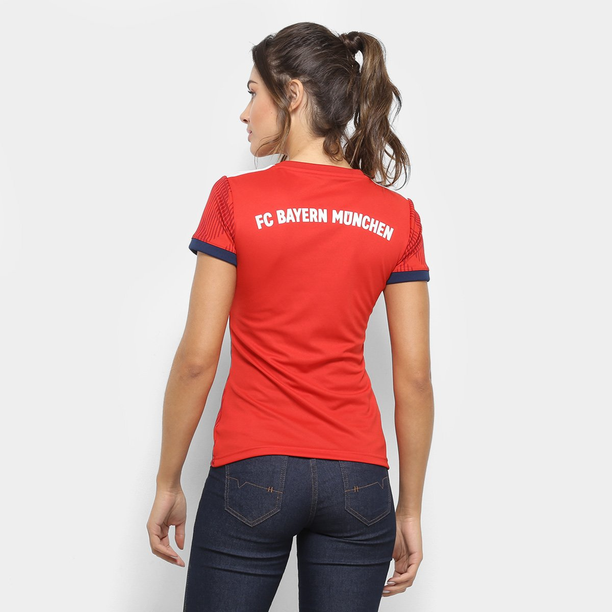 126e48a87e Camisa Bayern de Munique Home 2018 s/n° - Torcedor Adidas Feminina ...