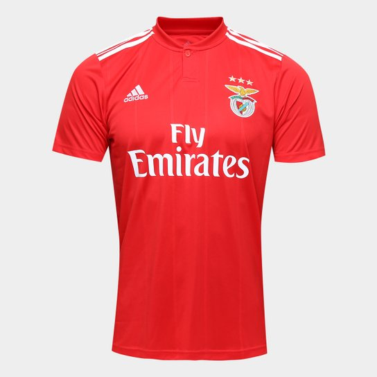 Camisa Benfica I 2018 s n° - Torcedor Adidas Masculina - Vermelho ... a8b125b8bb76d