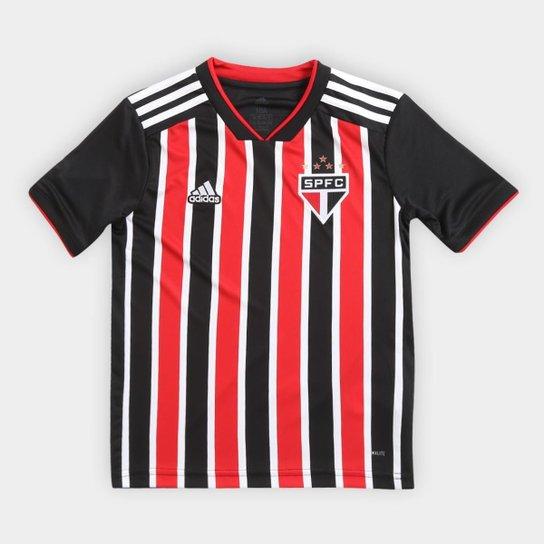 d0a3e31a0d Camisa São Paulo Infantil II 2018 s n° Torcedor Adidas - Vermelho+Branco