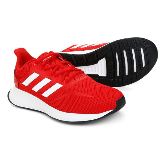 3f584eabbc713 Tênis Adidas Falcon Masculino - Vermelho e Branco | Netshoes