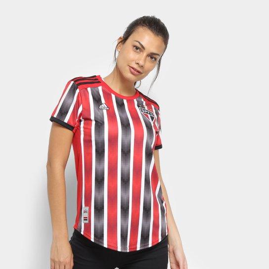 fe4060d5d0 Camisa São Paulo II 19 20 s nº Torcedor Adidas Feminina - Vermelho e ...
