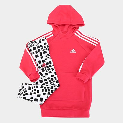 Conjunto Agasalho Infantil Adidas Hd Dre G Feminino