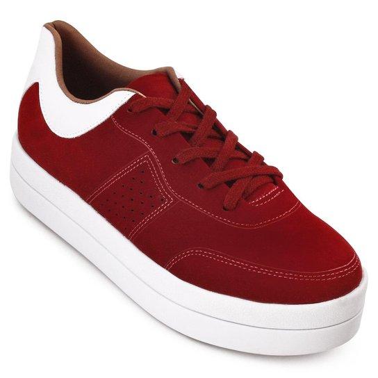 b00579bb2 Tênis Bebecê Flatform Feminino - Vermelho e Branco | Netshoes
