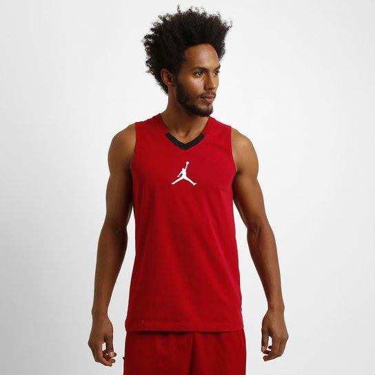 262fe299b2097 Camiseta Regata Nike Jordan Rise - Vermelho+Branco