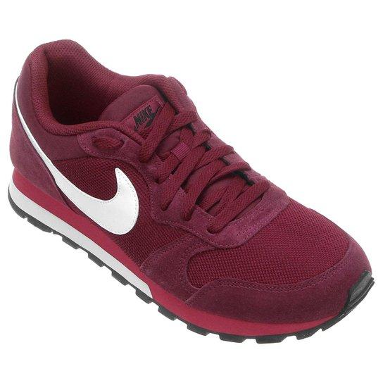 bd603cc5d30 Tênis Nike Md Runner 2 Masculino - Vermelho Escuro e Branco - Compre ...