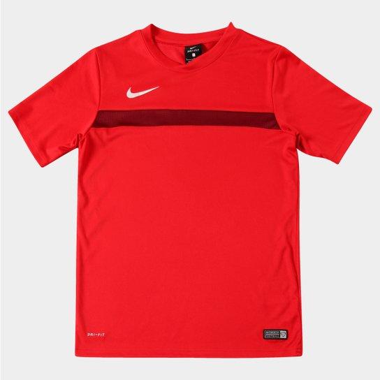 f6294f17b8049 Camisa Nike Academy Training Infantil - Vermelho+Branco