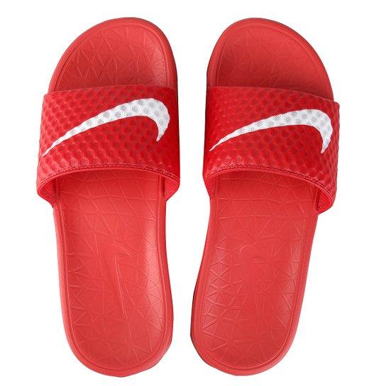 8b3a6601fa3 Sandália Nike Benassi Solarsoft Tb - Vermelho+Branco