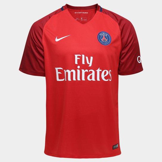 f6ebf8ed10 Camisa Paris Saint Germain Away 16/17 s/nº Torcedor Nike Masculina -  Vermelho