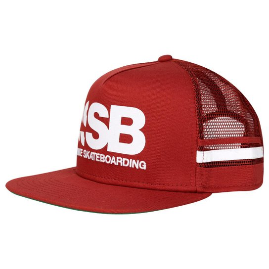 8c2901117b Boné Nike Aba Reta SB Cut Trucker - Vermelho+Branco