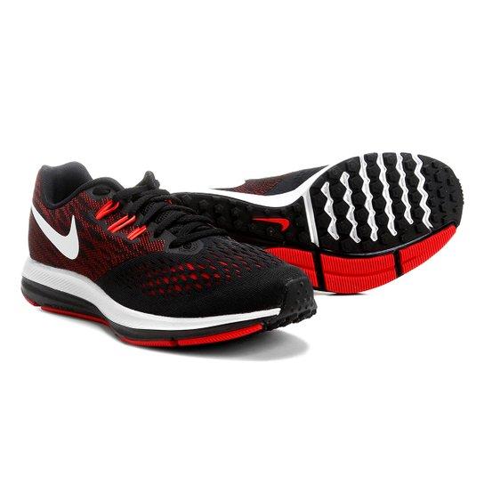 2baea28eecb64 Tênis Nike Zoom Winflo 4 Masculino - Vermelho+Preto