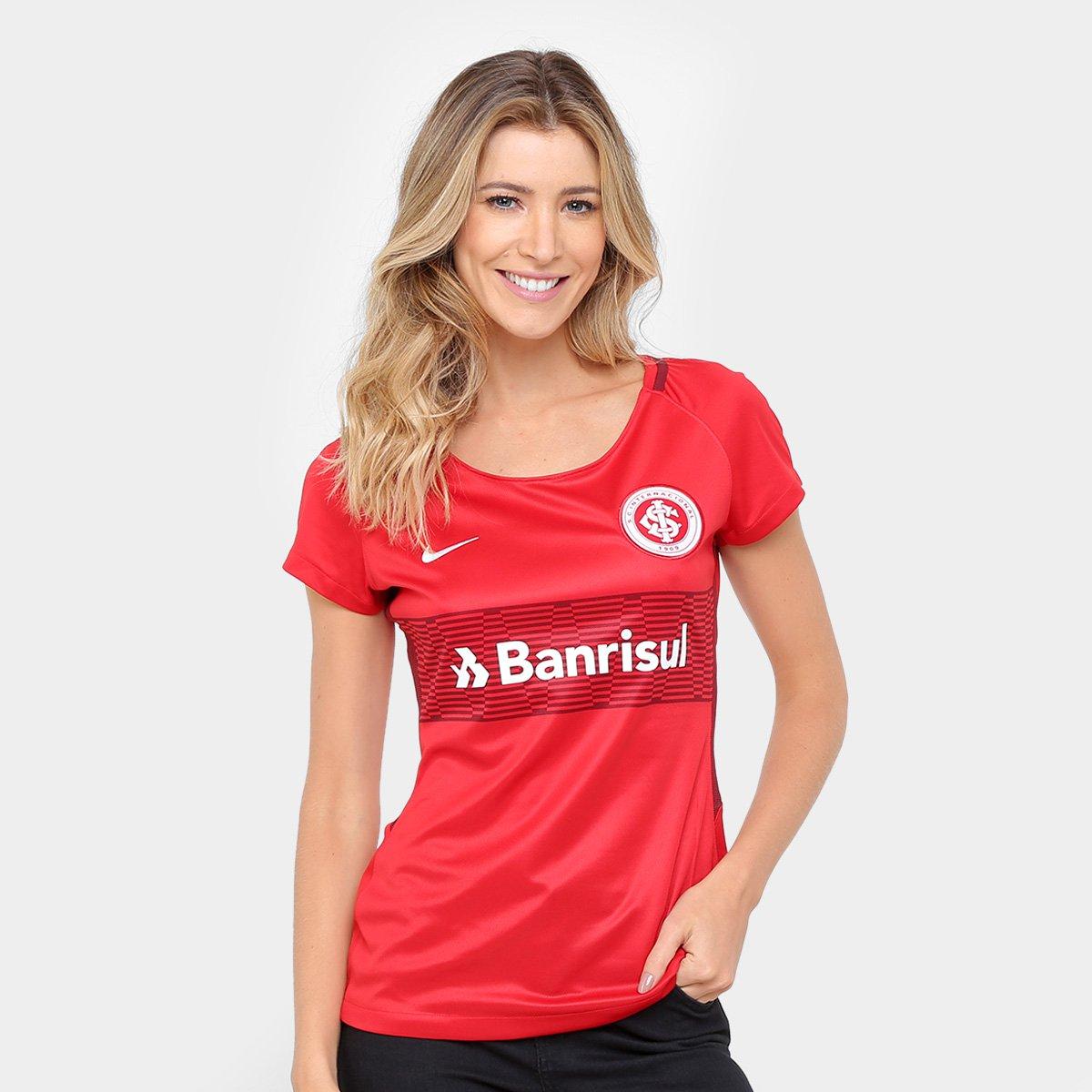 Camisa Internacional I 17 18 S Nº Torcedor Nike Feminina