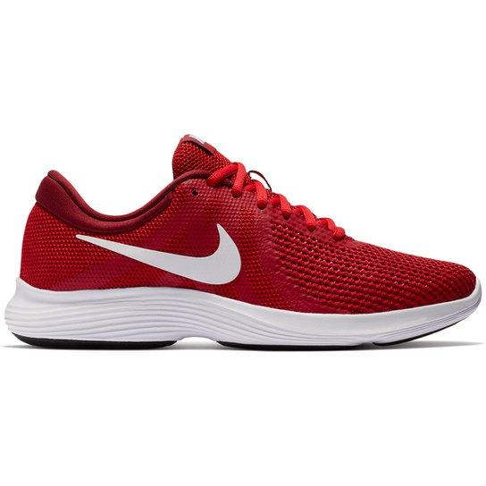 5a8964cdebe2e Tênis Nike Revolution 4 Masculino - Vermelho e Branco - Compre Agora ...