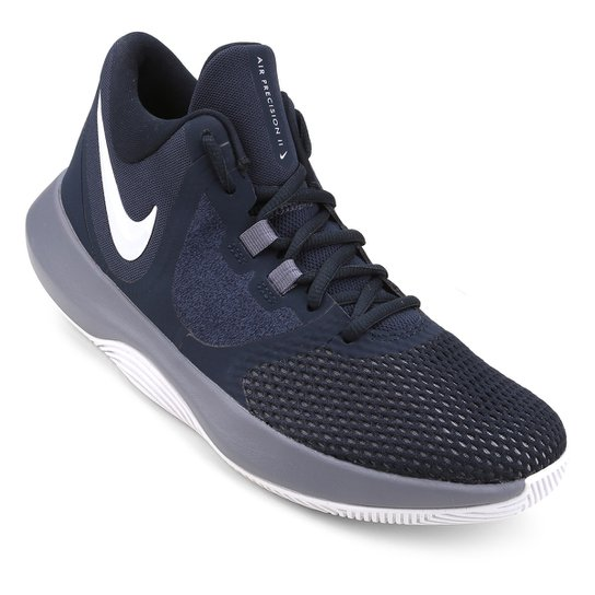 official photos 5d955 18289 Tênis Nike Air Precision II Masculino - Marinho+Cinza