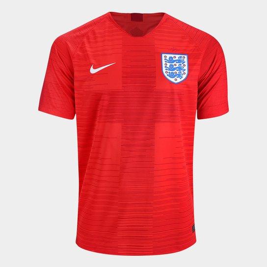 8091419635bb8 Camisa Seleção Inglaterra Away 2018 s n° Torcedor Nike Masculino - Vermelho