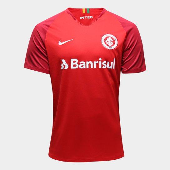 Camisa Internacional I 18 19 Torcedor Nike Masculina - Vermelho+Branco fd62236cd0e9b