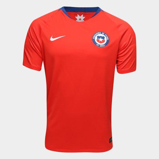 Camisa Seleção Chile Home 2018 s n° Torcedor Nike Masculina - Vermelho 62221c884a1fe