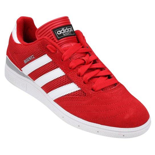pretty nice 35f91 e35e3 Tênis Adidas Busenitz Clima - Vermelho+Branco