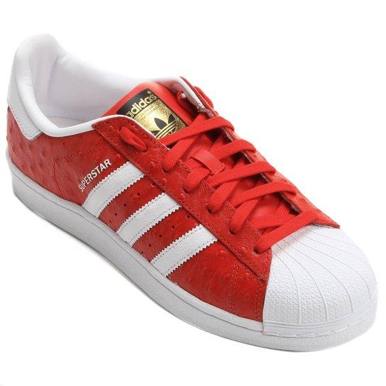 5dcec5db086 Tênis Adidas Superstar Animal Pack - Vermelho+Branco