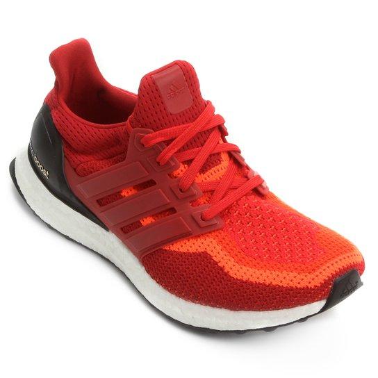 658cde134 Tênis Adidas Ultra Boost Masculino - Vermelho+Vinho
