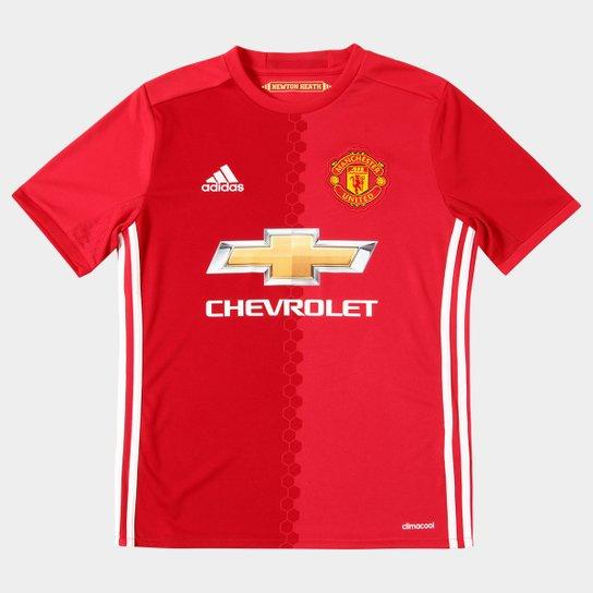 5023815ae33 Camisa Manchester United Infantil Home 16 17 s nº - Torcedor Adidas -  Vermelho
