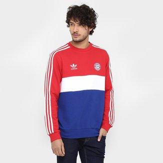 3deada553 Moletom Bayern de Munique Adidas Crew Masculino