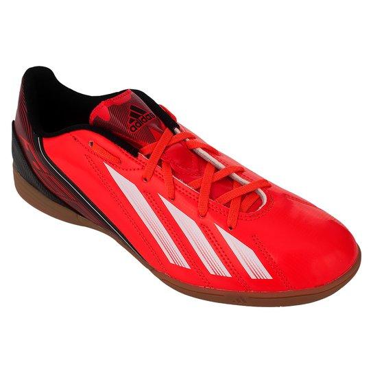 a6cde66307 Tenis Futsal Adidas F5 In - Vermelho+Branco