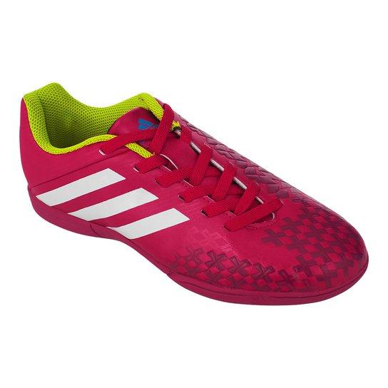 fbf508d3fb Tenis Futsal Adidas Predito Lz In J - Vermelho+Branco
