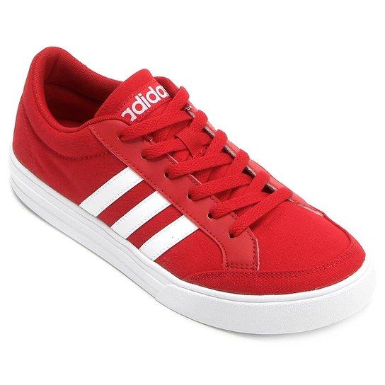 7f20eec7ebe Tênis Adidas Vs Set Masculino - Vermelho+Branco