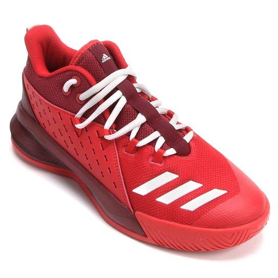 568cbe7efd5 Tênis Adidas Street Jam 3 Masculino - Vermelho+Branco