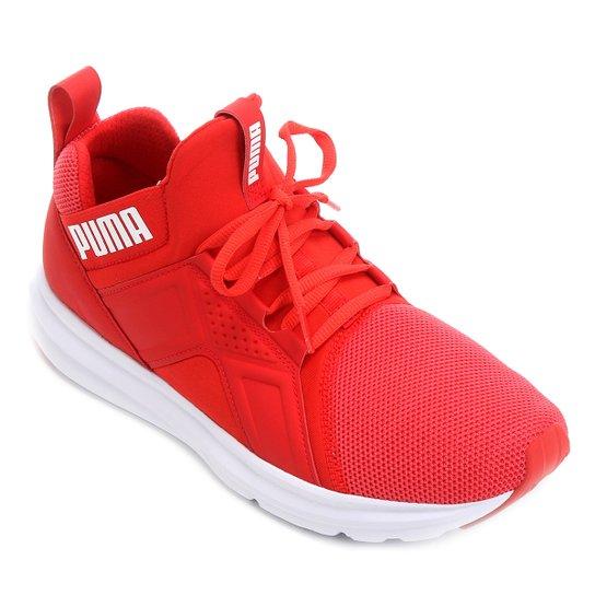 19caab304a28d Tênis Puma Enzo Mesh Feminino - Vermelho+Branco