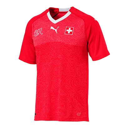 Camisa Seleção Suíça Home 2018 s/nº - Torcedor Puma Masculina