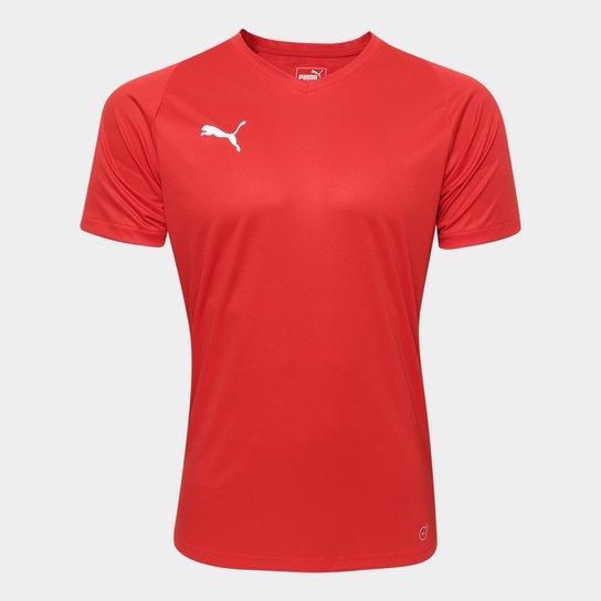 Camisa Puma Liga Jersey Core Masculina - Vermelho e Branco - Compre ... bc5f0aca74da