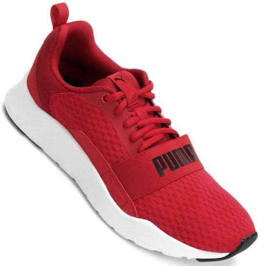 723cdc4da5 Tênis Puma Wired - Vermelho e Branco - Compre Agora