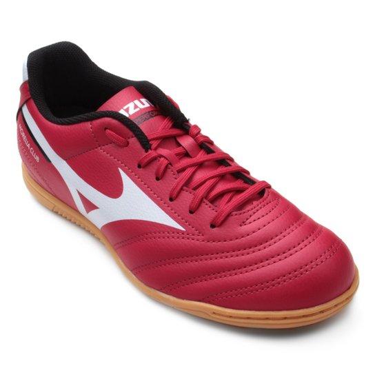 e9d4909da Chuteira Futsal Mizuno Morelia Club IN N - Vermelho e Branco ...