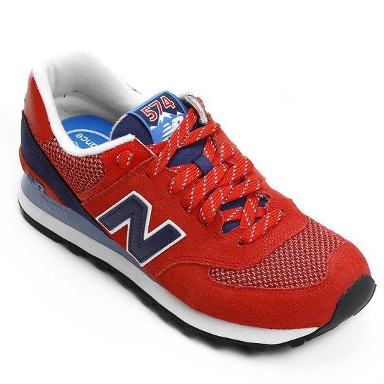 f2330e528a9 Tênis New Balance 574 Summer Utility - Vermelho e Marinho - Compre ...