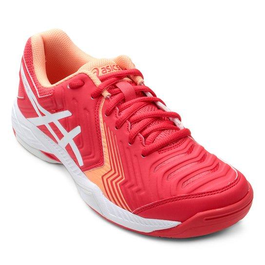 68a2caa305 Tênis Asics Gel Game 6 Feminino - Vermelho e Branco - Compre Agora ...
