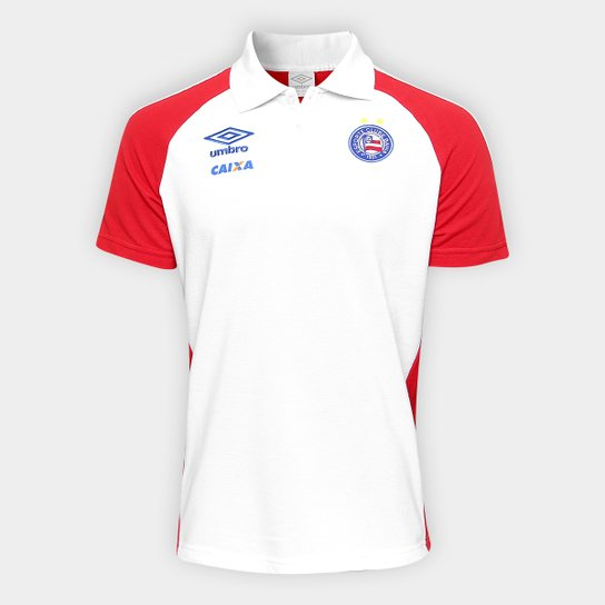 92b3f65a21 Camisa Polo Bahia Viagem 17 18 Masculina Umbro - Vermelho+Branco