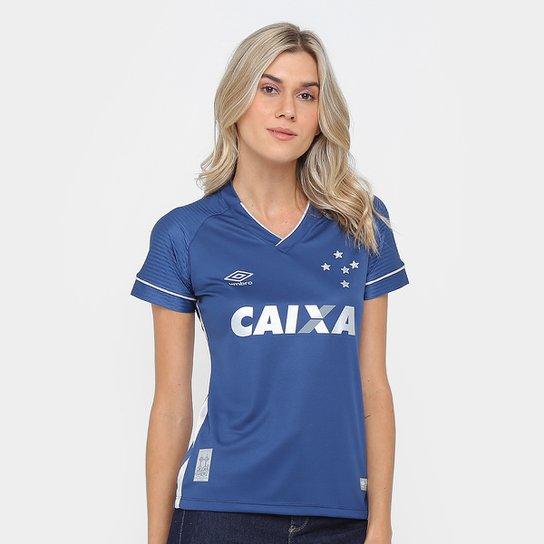 d99ae6902456b Camisa Cruzeiro III 17 18 s n° - Torcedor Umbro Feminina - Marinho e ...