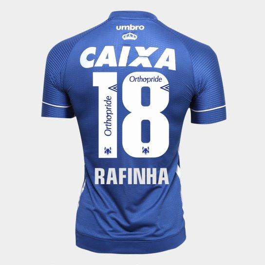 Camisa Cruzeiro III 17 18 N° 18 Rafinha Torcedor Umbro Masculina - Marinho+ f1e19d61e1ba3