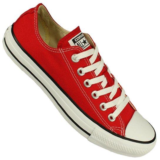 Tênis Converse All Star Ct As Core Ox - Vermelho e Branco - Compre ... 2355f95721df9