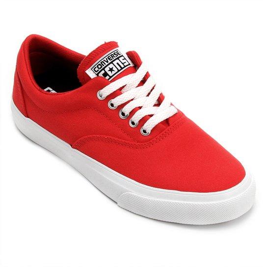 ad34131dc5c Tênis Converse Skidgrip Cvo - Vermelho e Branco - Compre Agora ...