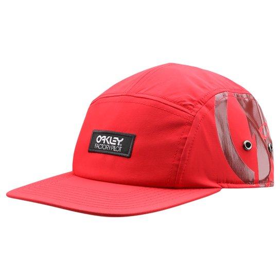 Boné Oakley Fp 5 Panel - Vermelho+Branco b621725c87a