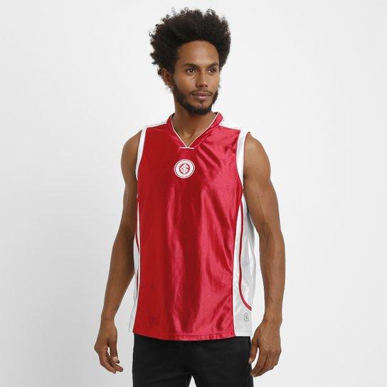 f6e1f15653 Camiseta Regata Internacional Machão Trilobal Basket - Vermelho+Branco