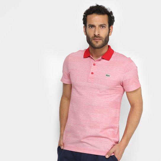 Camisa Polo Lacoste Básica Masculina - Vermelho e Branco - Compre ... 14aa20ca44