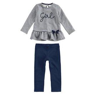 633415cdc8 Conjunto Moletom Infantil Girl Carinhoso Feminino