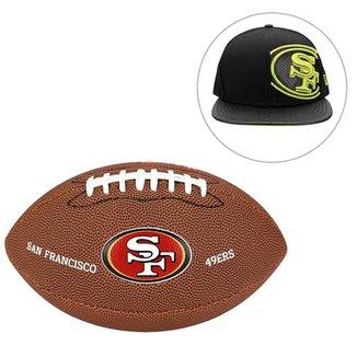 32bc6c156b Kit Bola Wilson San Francisco 49ers + Boné NFL San Francisco 49Ers