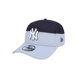 Boné 940 A-frame New York Yankees MLB Aba Curva New Era 7eab8c80f57