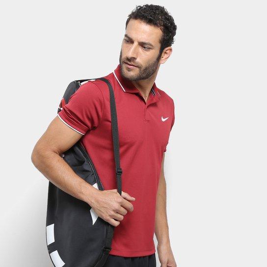 a16852ca99a Camisa Polo Nike Dry Team Masculina - Vermelho e Branco - Compre ...