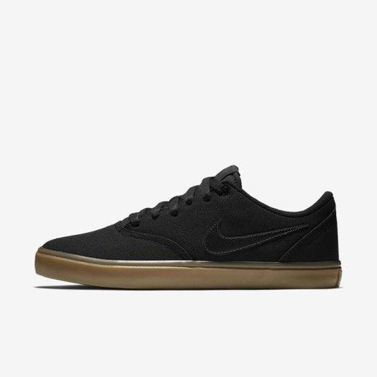 efd6bf59467 Tênis Nike SB Check Solarsoft Canvas - Preto e Marrom - Compre Agora ...